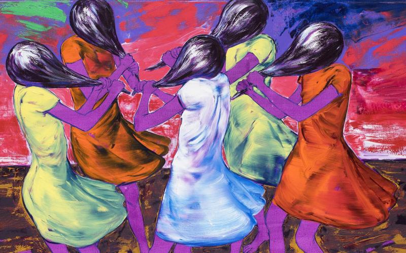 Expresivní tance Lubomíra Typlta. Výstava v Alšově jihočeské galerii hýří barvami